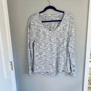 Lululemon grey and white asymmetric top